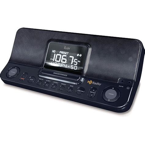 iluv dual alarm clock iluv i168 hd radio with dual alarm clock i168 b h photo video