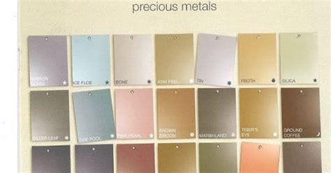 martha stewart s precious metals paint color chart
