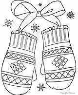 Winter Coloring Clothes Pages Mittens Preschool Crafts Kindergarten Worksheets Toddler Lot sketch template