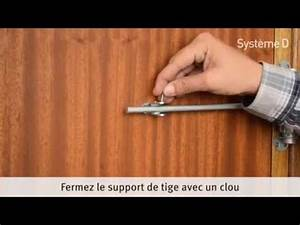 installer un ferme porte a tige youtube With comment enlever un encadrement de porte