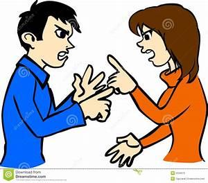 Couple Arguing Clipart