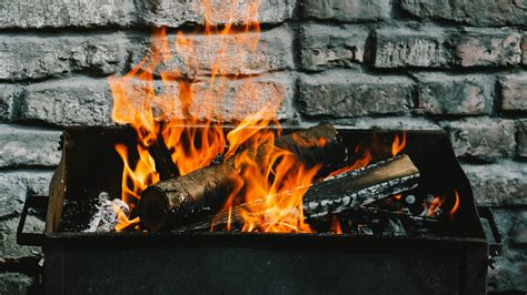 wallpaper  firewood fire wall barbecue background