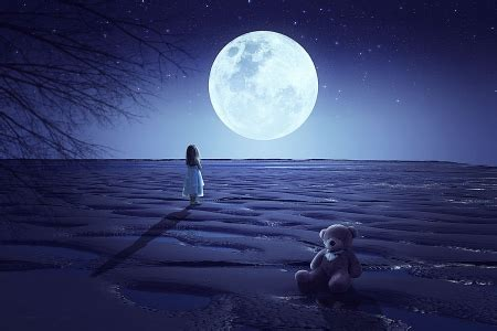 big moon fantasy abstract background wallpapers