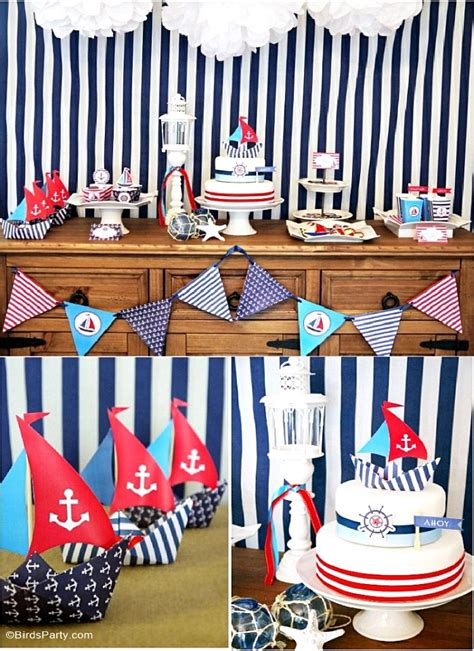 preppy nautical birthday party deserts table party