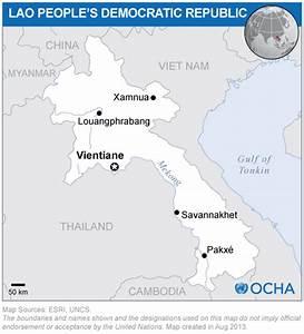 Lao People's Democratic Republic: Location Map (2013 ...