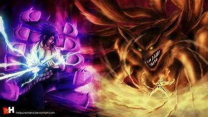 Kurama Naruto Wallpapers Susanoo Tailed Sasuke Beast