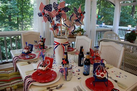 patriotic celebration table setting