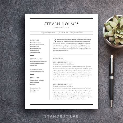 Easy Way To Make A Resume by Professionally Designed And Easy To Customize Two Page