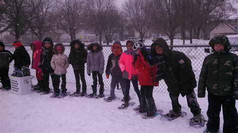 grade snow shoeing capitol view elementary school