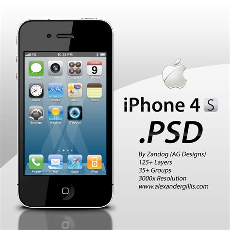 free on iphone apple iphone 4s psd by zandog on deviantart