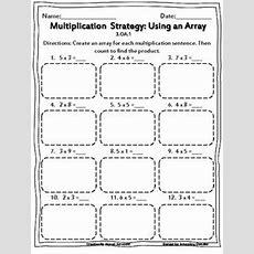 Multiplication Using Arrays Worksheets  Math Math