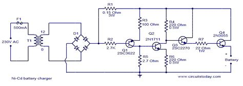 ni cd battery charger circuit electronic circuits