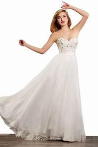 elegant strapless sweetheart beaded chiffon wedding dress With wedding dress chiffon