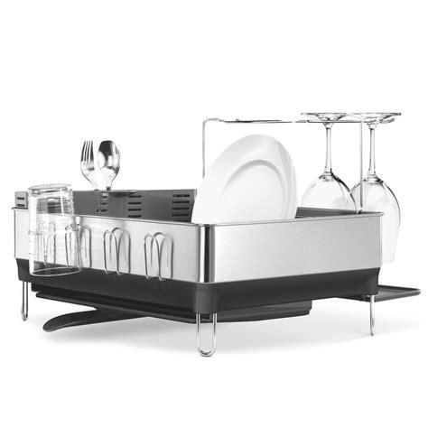 acrylic kitchen sinks simplehuman steel frame dish rack with wine glass rack in 1154