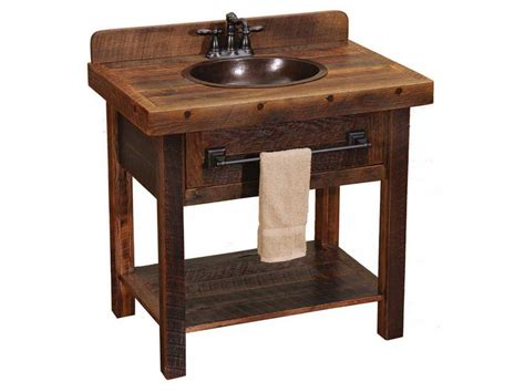 Rustic Bathroom Sinks And Vanities With Cool Pictures In