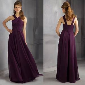 2014 loveable v neck sleeveless pleats details chiffon With plum dresses for weddings