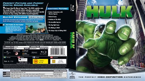 Coversboxsk Hulk Nordic Blu Ray 2003 High