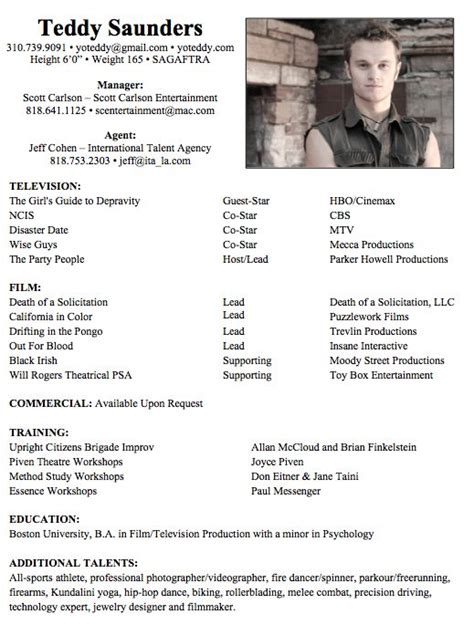 Resume For Actors by Actors Resume Exle Plusbigdealcom Uc5maf2t Manish