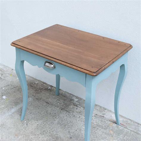 table bureau bout de canapé ou bureau enfant vintage rénové et actualisé