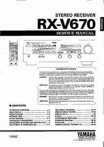Yamaha Rx A760 Owners Manual
