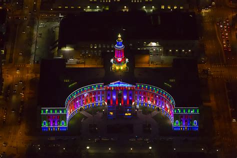 denver city and county building holiday lights imagewerx