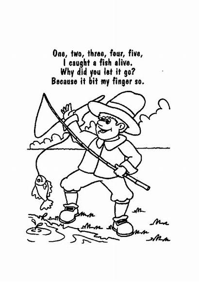 Nursery Rhymes Coloring Printable Pages Rhyme Colouring