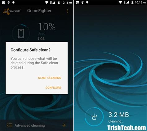 avast grimefighter cleans junk cache on android avast grimefighter cleans junk cache on android
