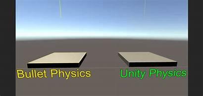 Physics Bullet Engine Unity Comparison Unity3d Wrapper