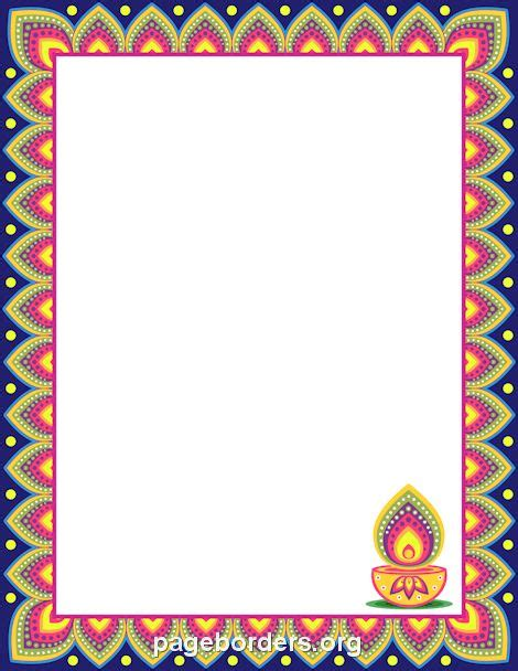 Diwali Border  מסגרות  Page Borders, Borders, Frames, Borders For Paper