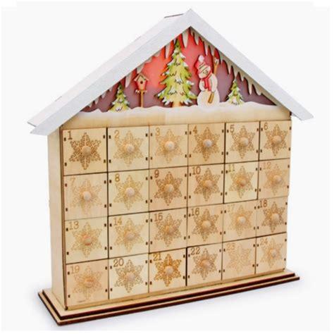 """Geschenkwichtel  Adventskalender """"schneehaus"""" Mit"""