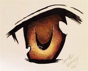 Drawing an Anime Eye with Colored Pencils (Time Lapse ...