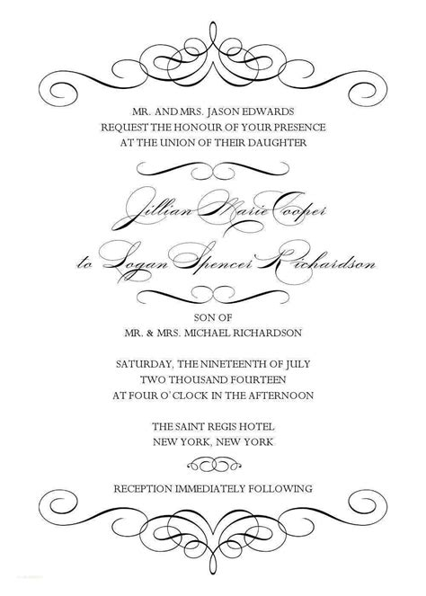 Images Of Wedding Invitation Templates