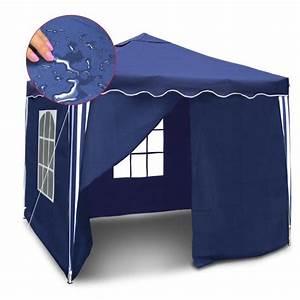 Tonnelle Pliante Avec Rideaux : tonnelle pliable en 3x3m avec toit tanche achat vente ~ Edinachiropracticcenter.com Idées de Décoration