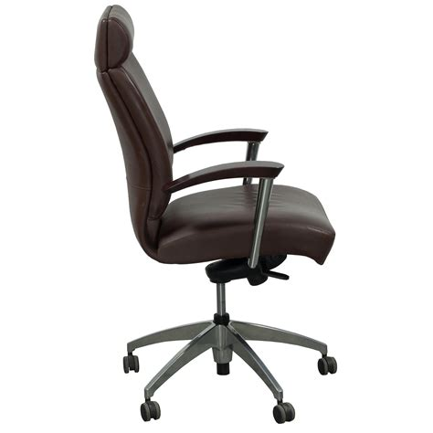ofs cs2 used high back leather conference chair