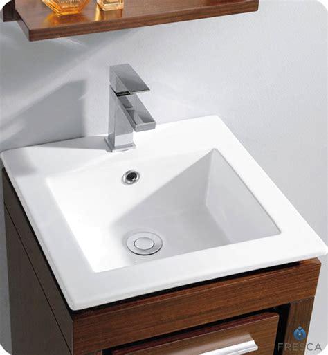 r sinks for bathrooms fresca 16 quot allier small modern bathroom vanity wenge finish 20083