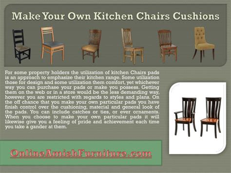 ppt make your own kitchen chairs cushions powerpoint