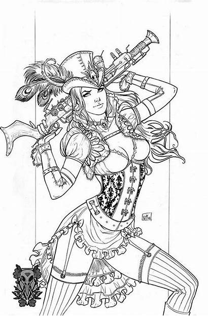 Steampunk Coloring Printable Pages