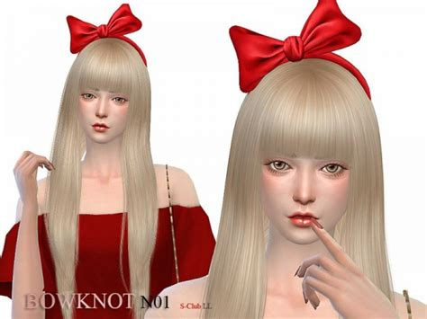 sims resource bowknot   sclub sims  downloads