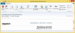 Amazon Mein Konto Rechnung : aufhebung des nutzerkontos von konto umstellen ist amazon phishing vorsicht e mail ~ Themetempest.com Abrechnung