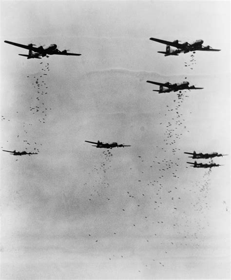 """ B-29 Superfortress Bombers Dropping Bombs"