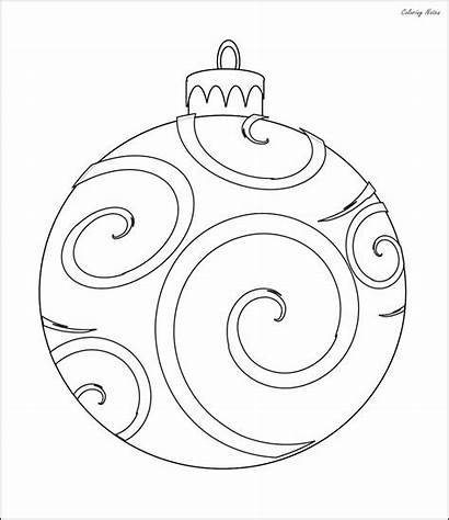 Coloring Christmas Ornaments Pages Easy Printable Tree