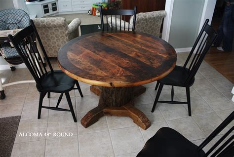 Round Reclaimed Wood Kitchen Table In Stouffville, Ontario