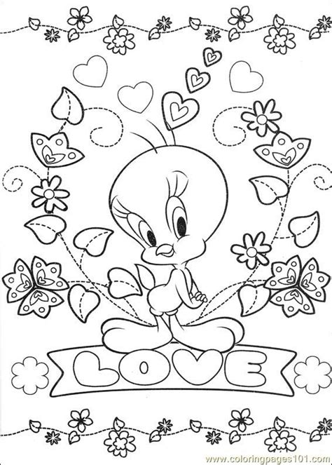 tweety  coloring page  tweety bird coloring pages coloringpagescom