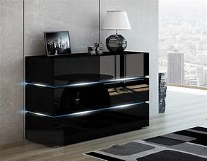 Kommode Schwarz Hochglanz : kaufexpert kommode shine sideboard 120 cm schwarz hochglanz led beleuchtung modern design tv ~ Indierocktalk.com Haus und Dekorationen