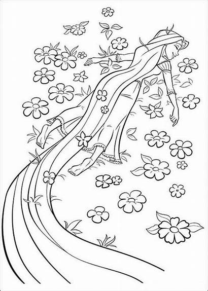 Rapunzel Coloring Pages Printable Tangled Disney