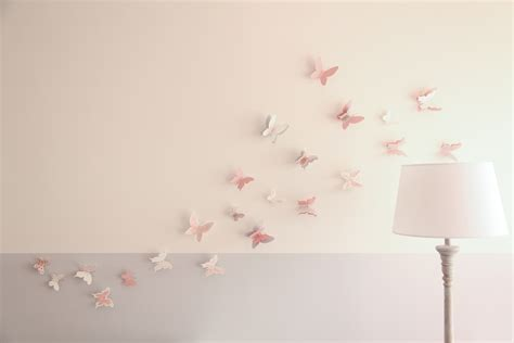 sticker chambre bebe fille stickers papillon chambre bebe collection avec deco