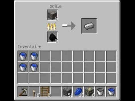comment faire une cuisine dans minecraft comment faire des lingos de fer minecraft