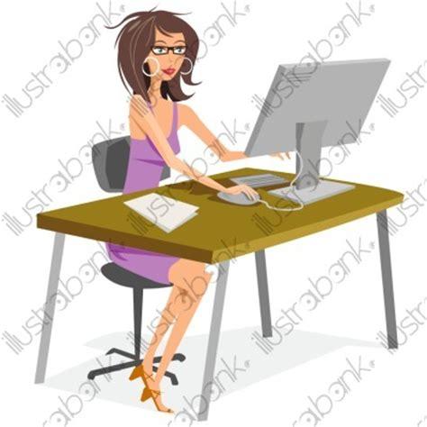 secretaire au bureau secrétaire illustration au bureau libre de droit sur