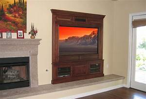 Hand Crafted Built-In Fireplace Entertainment Center by
