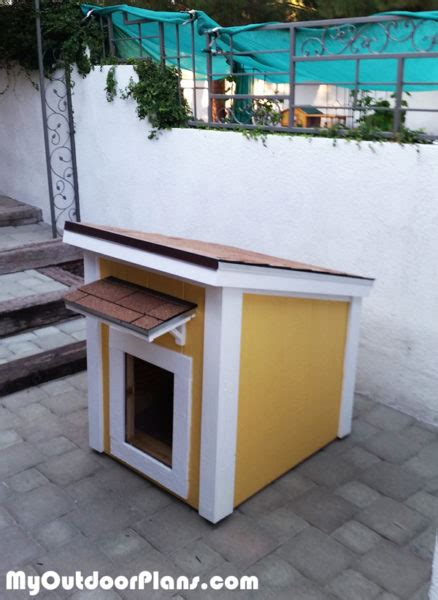 diy insulated large dog house myoutdoorplans